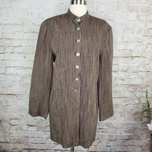 French Connection Long Linen Blazer 10 EUC